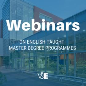 Webinars on English-taught master programmes at VŠE