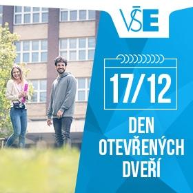 VŠE zve zájemce o bakalářské a navazující magisterské studium na den otevřených dveří /17. 12./