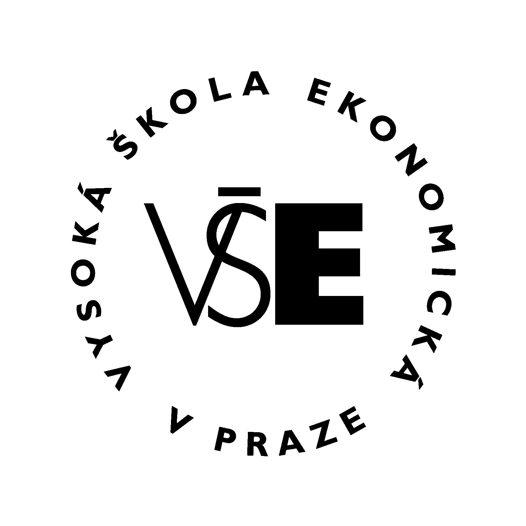 VŠE - logo black - circle