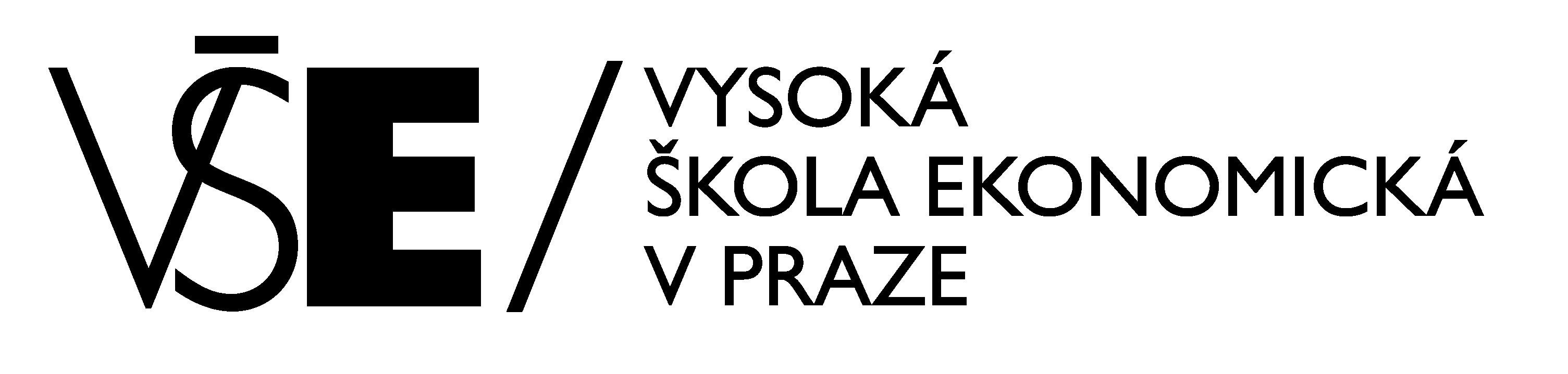 VŠE - logo black - horizontal