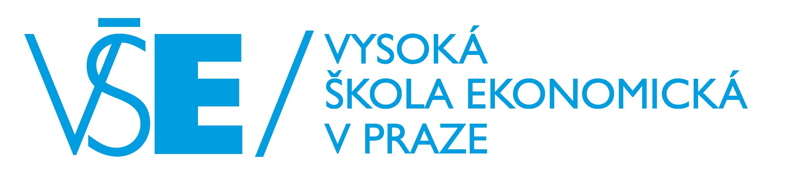 VŠE - logo blue - horizontal