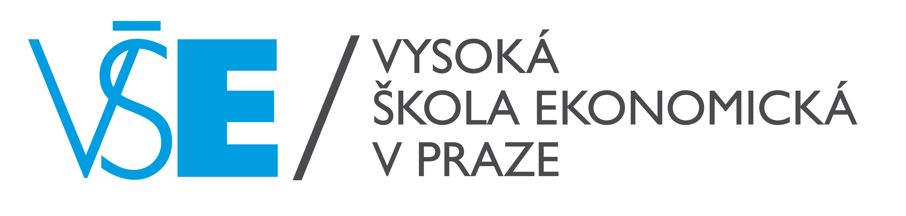 VŠE - logo modro-black - horizontal