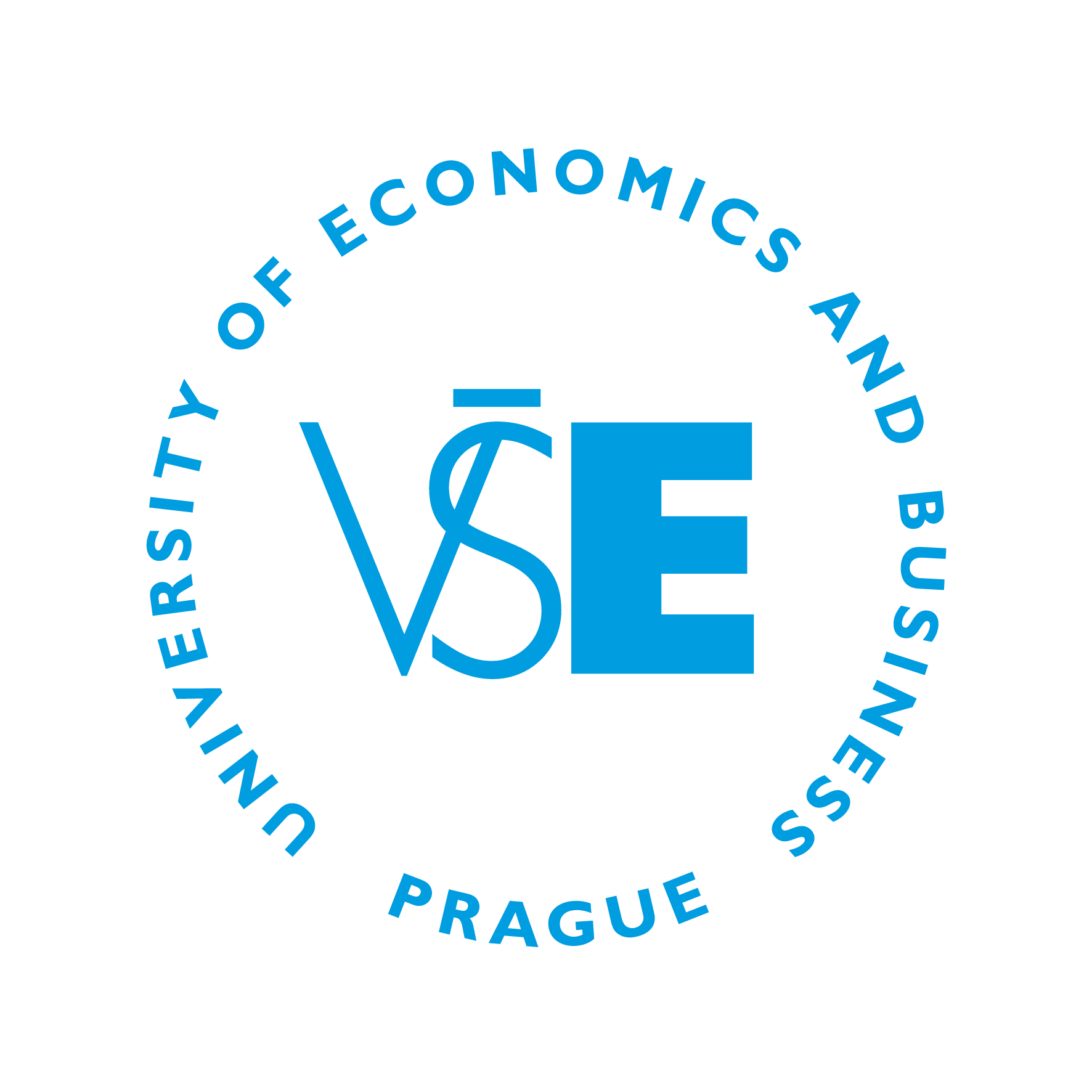 VŠE - logo blue - circle - English